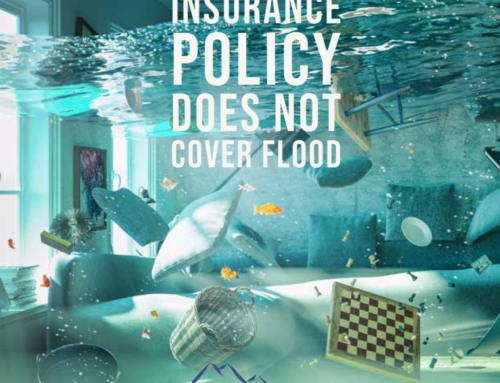 Standard home insurance policy does not cover flood 🏊